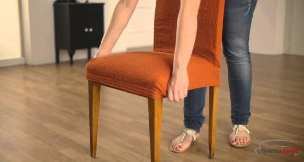 Housse de chaise extensible pas ch re for Housse de fauteuil extensible pas cher