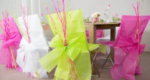 Housses de chaises jetables pour mariage